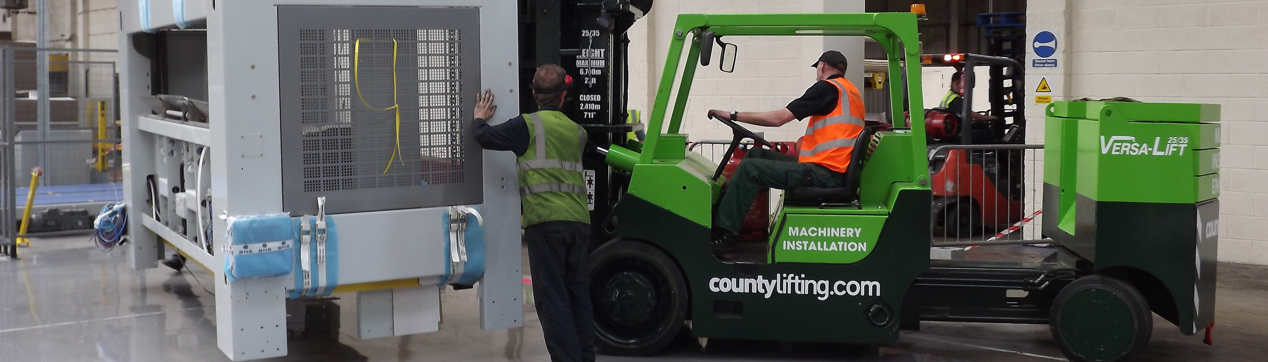 County Lifting branded machinery